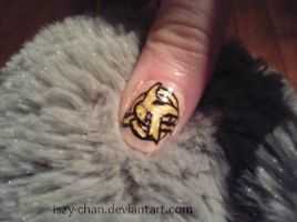 Hunger Games Mockingjay Nails by Iszy-chan