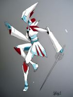 RWBY Weiss Schnee Robot Colored (Unfinished) by starscreamundermybed