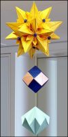 Kusudama Lazlo + Rhombic Unit + Diamond by BlueTF