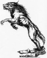 Werewolf in Hispo Form by Stonegate