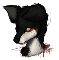 Staring at the sink of blood and crushed veneer by SpookyDoge