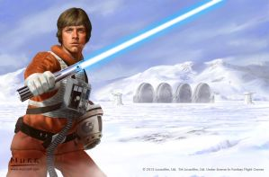 Luke Skywalker - Defender of the Cause by JakeMurray