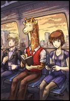 No Wild Animals On Train by Usagisama