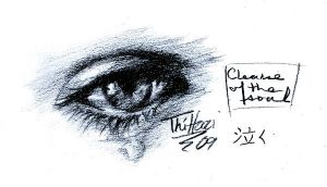 Crying Eye Sketch by thi-hoai