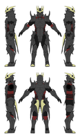 Dark Knight Alternis Dim Ver 2 - Orthographics by Seig-Verdelet