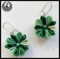 Green Earrings by Arleen