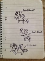 Bored in School - Drawing without open eyes 2 by MoonCloudTheBrony