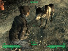 Fallout 3 - Dogmeat and Ollie by ladybeastcharmer