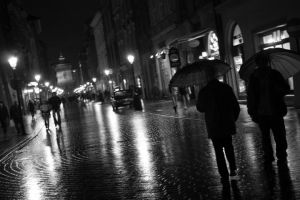 Cracow street by bananowy