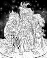 Buzz Lightyear and co BW final by zorm