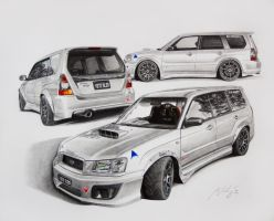 Subaru Forester Brams Yeti Sled by Mipo-Design