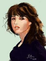 French Actress Sophie Marceau by Parziwal