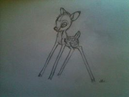 Bambi Sketch by Hii621