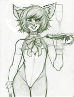 Jun Kitty sketch by EICHH-EMMM