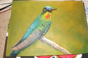 Humming Bird Oil Painting by LookAliveHolly