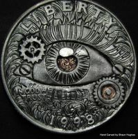 Mechanical Eye Hand Engraved by Shaun Hughes by shaun750