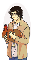 dr. kenzo tenma and a chicken by cloverinblue