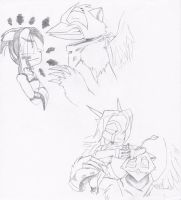 Igrath Vs. Ova and Namah Over Igrath by Reptilian-Angel
