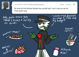Ask Rocket gardevoir FOOD by The-Clockwork-Crow