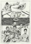 Teen Titans Page 2 Sample - A3 pencil by IgorChakal