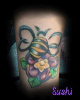 buble bee flower by gothicsushi
