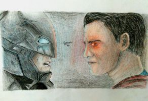 Batman v Superman Dawn of Justice by sonu9