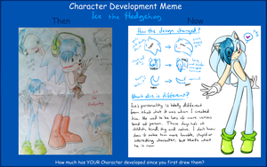 .:Meme:. Character Development Meme ft. Ice by SilverfanNumberONE