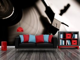 Vinyl Living Room Design by PIXERSIZE