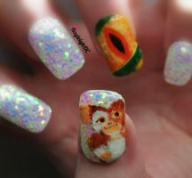 Gremlins Nail Art by KayleighOC