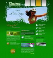 Web design Olnatura by dookg