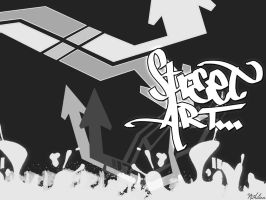 Simple Graffiti Wallpaper by nithilien