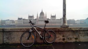 My Bike and the House Of Parliament Hungary BP by vinyo