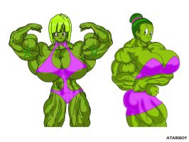 Hulked Up Anime Girls no6 by Atariboy2600