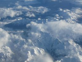 Swiss Alps from above by SoulRiser