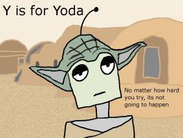 Y is for Yoda by photozz