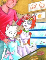 Kittens Shopping by RisingDragonArt