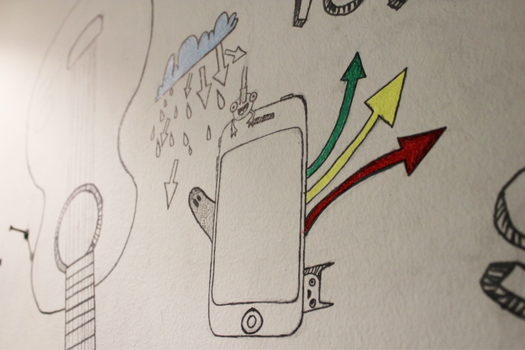 Drawing on the wall of my room by mohnad