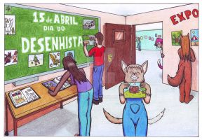 Feliz Dia do Desenhista! by Alef-GP