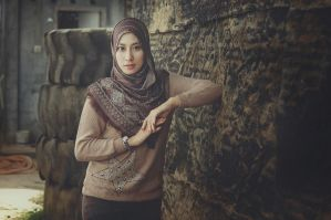 BROWN HIJAB by RiFaSa