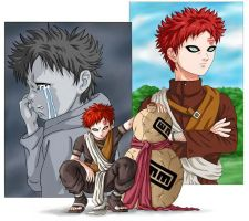 Gaara..PAST-PRESENT-FUTURE by godaiking