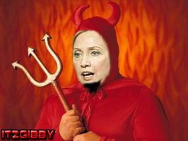 Hillary Clinton's THE DEVIL by ItzGibbY
