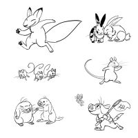 Cute Critters Inked by LaughingSkeleton