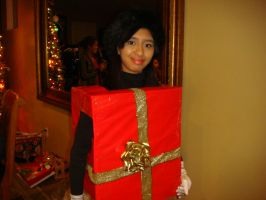 Me as Christmas box girl for Samantha's birthday 2 by Magic-Kristina-KW