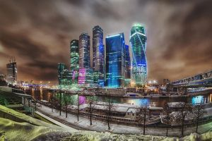 Moscow city lights by Tori-Tolkacheva