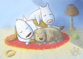 Doggy pile by tamaraR