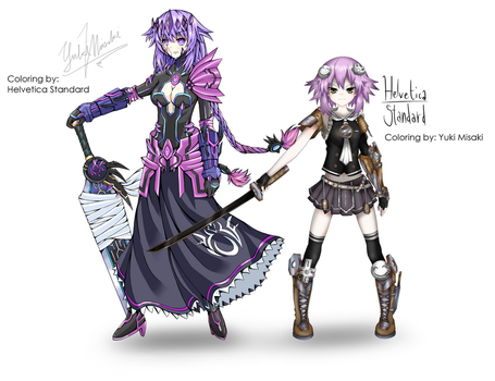 Chaos Purple and Evil Neptune Collaboration by Helvetica5tandard