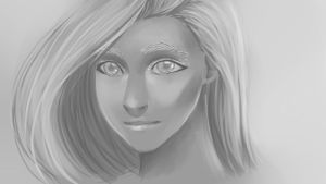 Girl in Grey by Stare24