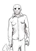 Daily Sketches Jason Voorhees by fedde