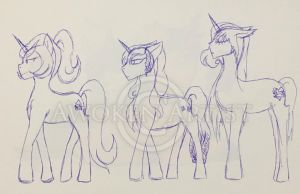 Sketch Art:  MLP OCs - The Twisted Crafter Family by AnimeEmm