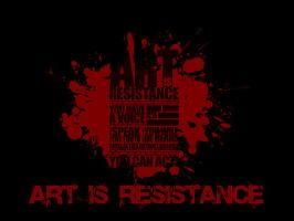 Art is Resistance Wallpaper by FreakMike
